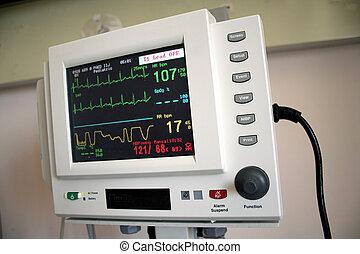medición, tasa corazón