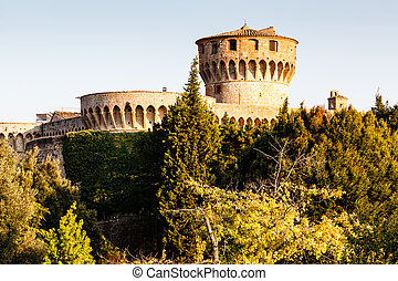 Medici Castle in the Park in Volterra, Tuscany, Italy