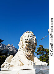 medici lion near Alupka Palace and Ai-Petri peak - medici...