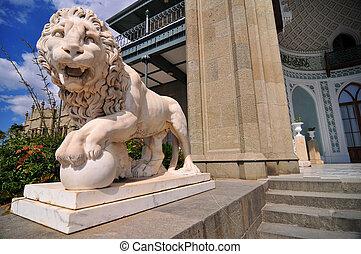 Medici Lion, Vorontsov Palace, Ukraine - Sculpture of the...