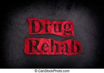 medicijn, rehab, concept