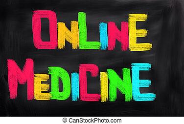 medicin, Begreb,  online