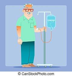 medicin droppglas, hälsa, man