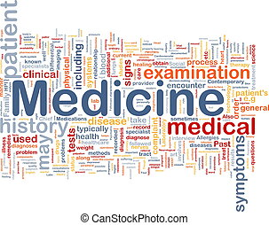 medicin, hälsa, bakgrund, begrepp