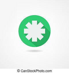 medicin, ikon