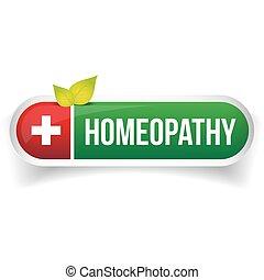 medicin,  logo, alternativ, vektor, Homeopati