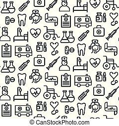 medicin, mönster, seamless