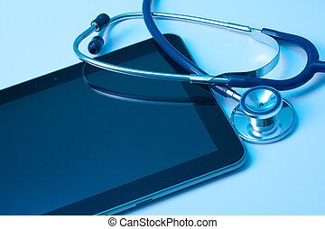 medicin, och, ny teknologi