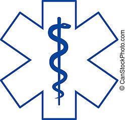 medicin, symbol, asclepius