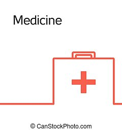 medicina, ícone, logotipo, conceito
