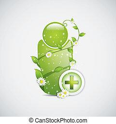 medicina, alternativa, sinal