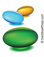 medicina, cápsulas, vetorial, -, gel