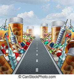 medicina, concepto, medicación