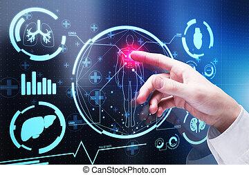 medicina, concepto, tecnología