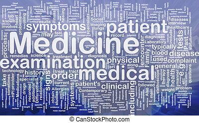 medicina, concetto, fondo