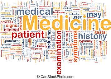 medicina, concetto, salute, fondo