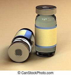 medicina, contenedor, botella