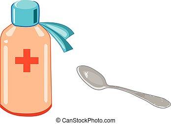 medicina, cucchiaio