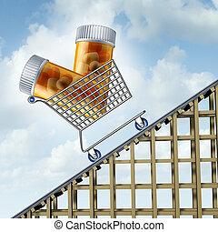 medicina, custos, levantar
