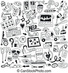 medicina, doodles