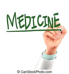 medicina, doutor, palavra, escrita