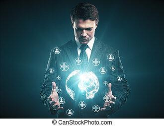 medicina, e, inovação, conceito