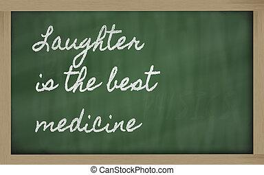 medicina, -, espressione, meglio, risata
