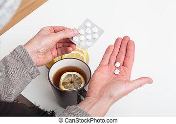medicina, gelado
