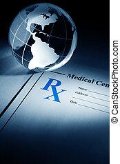 medicina, globo, prescripción