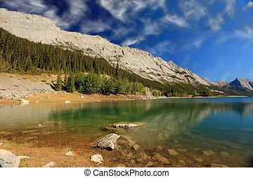 medicina,  jasper, lago,  Alberta