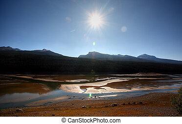 medicina, lago, in, jasper parco nazionale