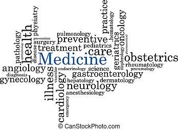 medicina, letras, ilustración