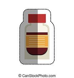medicina, médico, diseño, aislado, cuidado