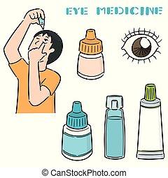 medicina, olho, vetorial, jogo