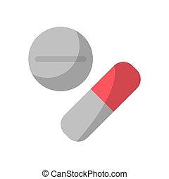 medicina, píldoras, de, atención médica, diseño