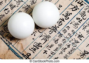 medicina, pílula, chinês