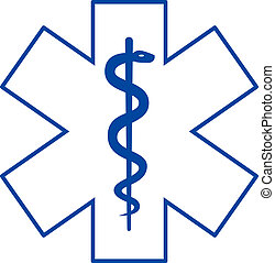 medicina, símbolo, asclepius