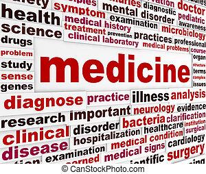 medicina, saúde, desenho, cuidado