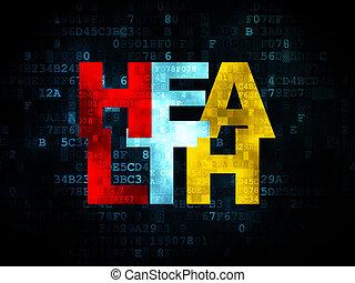 medicina, salute, concept:, fondo, digitale