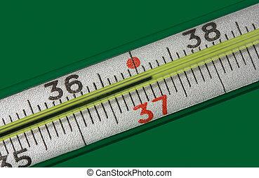 medicina, termómetro