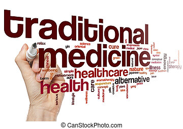 medicina tradicional, palavra, nuvem