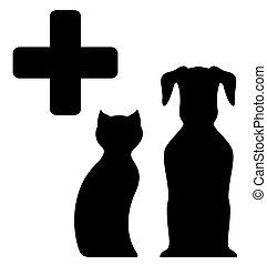 medicina, veterinario, señal