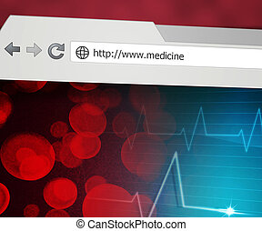 medicina, web browser