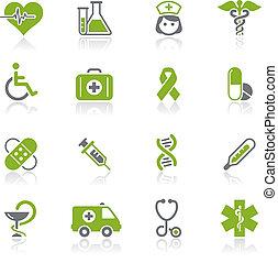 medicina, y, brezo, cuidado, /, natura