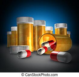 medicina, y, medicación