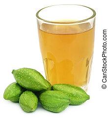 Medicinal haritaki fruits with extract - Fresh green...