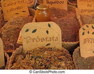 Medicinal herbs - medicinal herbs in medieval market