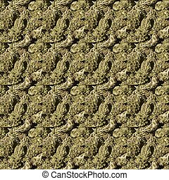 Medicinal Marijuana Plant Detail and Pattern Background