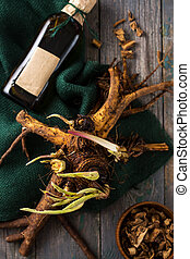 Medicinal root elecampane