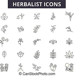medicinalväxtodlare, herbal, illustration:, natur, naturlig...